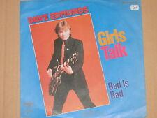 "DAVE EDMUNDS -Girls Talk- 7"" 45"