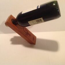 Wood Wine Holder Carved Out Lizard Belize Counterbalanced