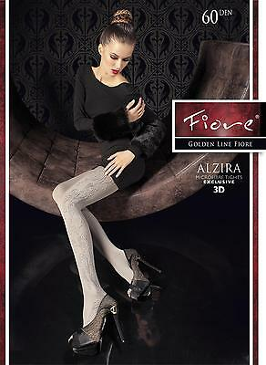 Perseverando Calze Collant Donna Fiore Alzira 3d - 60 Den - Size 3 / M Disabilità Strutturali
