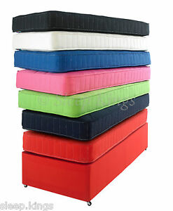 KIDDIES COTTON COLOURED MATTRESSES UK AND EUROPEAN SIZES AVAILABLE