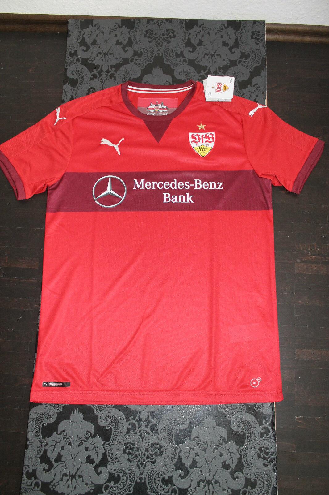 Puma VfB Stuttgart Auswärts Away Trikot 2015 2016 Rot alle Größen Neu