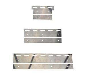 Détails sur Acier Inox Ensemble de plat pour PVC Rideau Bandes 10x Chambre  froide Entrepôt