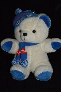 1986-K-Mart-1988-Christmas-Stuffed-Teddy-Bear-Animal-Toy-Plush-NOS
