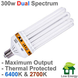 Image is loading PLAIN-PACKED-300w-DUAL-Spectrum-CFL-grow-light-  sc 1 st  eBay & PLAIN PACKED 300w DUAL Spectrum CFL grow light Bulb THERMAL ... azcodes.com