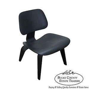 herman miller lounge chair. Image Is Loading Vintage-Herman-Miller-Eames-Black-LCW-Molded-Wood- Herman Miller Lounge Chair