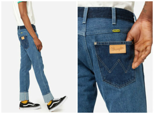 NEW WRANGLER by PETER MAX SLIM RETRO JEANS  STONE STRAIGHT SPENCER FIT L32//L34