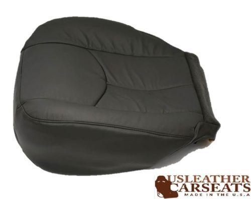 2003-2007 GMC Sierra Yukon Tahoe Driver Bottom Leather Seat Cover Dk Pewter Gray