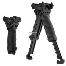 Tactical Swivel 40 Degree Foldable Foregrip Rifle Bipod 20mm Rail Mount Hunting