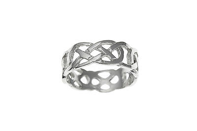 Finest Quality Mens Womens Sterling Silver Celtic Infinity Knot Design Band Ring