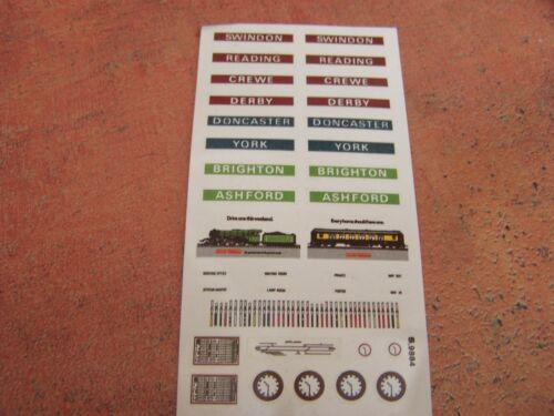 Hornby ~ S.9884 Transfer Sheet for Station /& Signal Box ~ OO Gauge  REF122