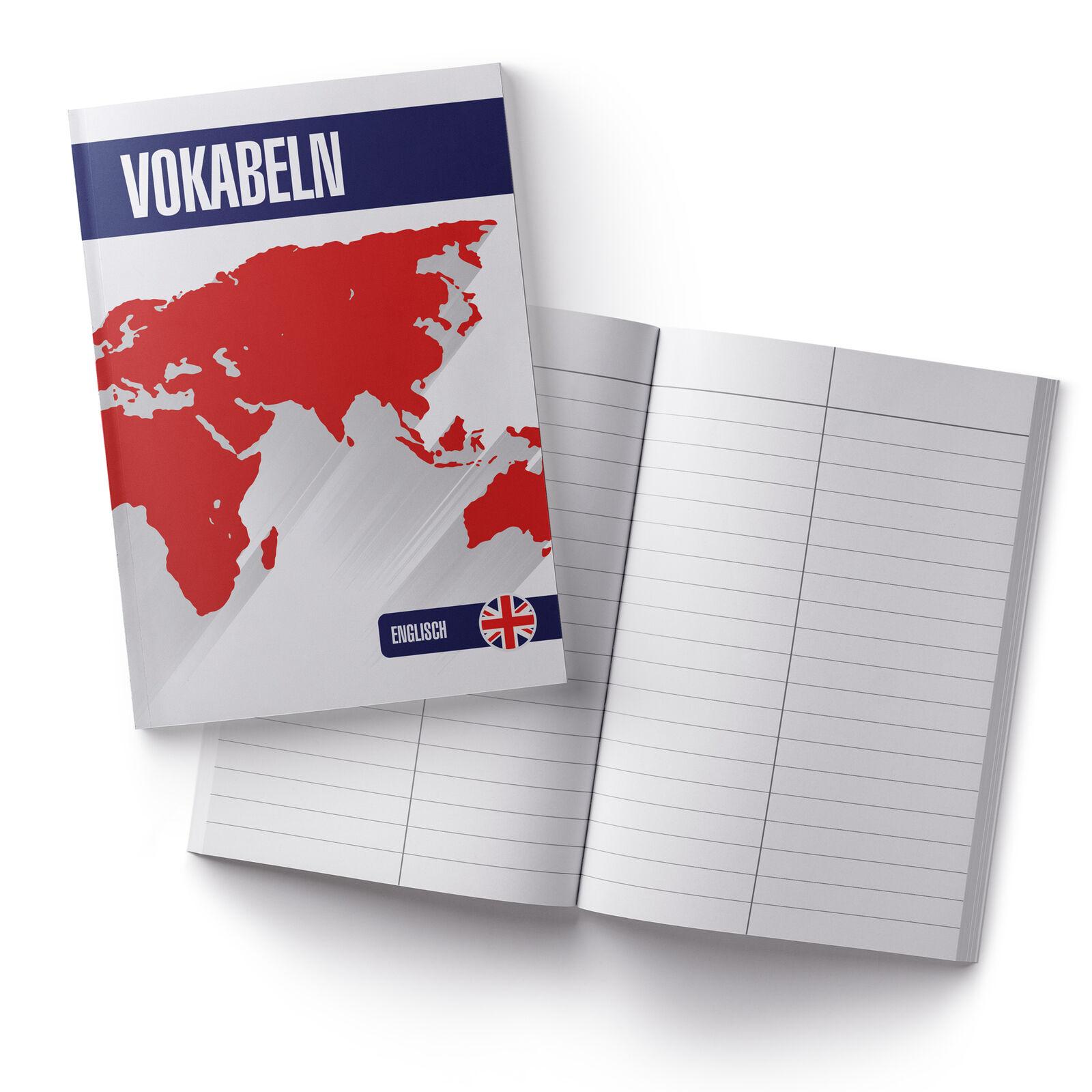itenga Vokabelheft Englisch DIN A5 56 Seiten Naturpapier Schule Freizeit neu