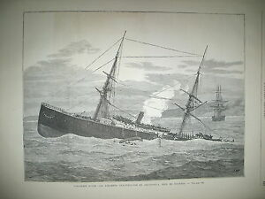 DOUVRES-NAUFRAGE-STEAMER-STRATHCLYDE-EXPEDITION-ANGLAISE-AU-CONGO-GRAVURES-1876