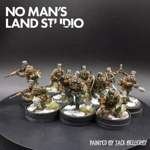 PRO PAINTED 28mm BOLT ACTION Waffen SS (Inverno) 13th Handschar Div SQUADRA #2 × 10