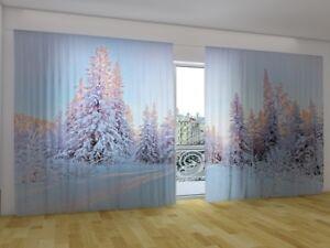 "Fotogardine ""winter Schnee"" Fotovorhang Panorama Vorhang Gardinen Nach Maß Curtains, Drapes & Valances"