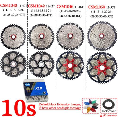 KMC 8//9//10//11S MTB Bike Cassette Chain 11-40//42//46//50 Sprocket Extension Hanger