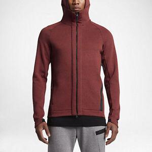 e3c9950e5ded NEW Nike Mens Tech Fleece Full Zip Hoodie Cayenne 832112 674 SZ ...