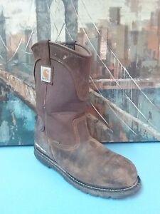 2b14bf71614 Details about Carhartt Men's Bison 11'' Waterproof Steel Toe Work Boots CMP  1200 Men Sz 11