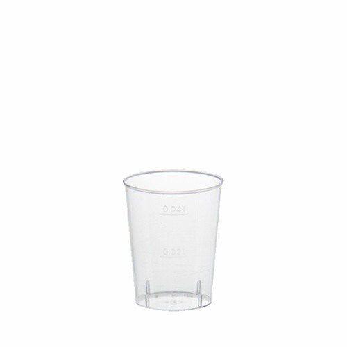 4 Cl Glasklar 2x 40 PAPSTAR Kunststoff-Schnapsglas