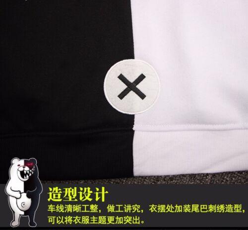Anime Danganronpa Monokuma Cosplay Unisex Jacket Hoodie Sweatshirt Coat S-3XL