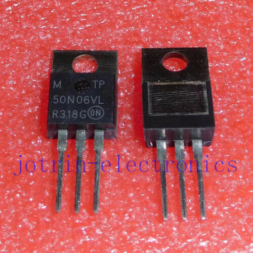 =0.032OHM on 5 pcs MTP50N06VL TO-220 TMOS POWER FET 42 AMPERES 60 VOLTS RDS