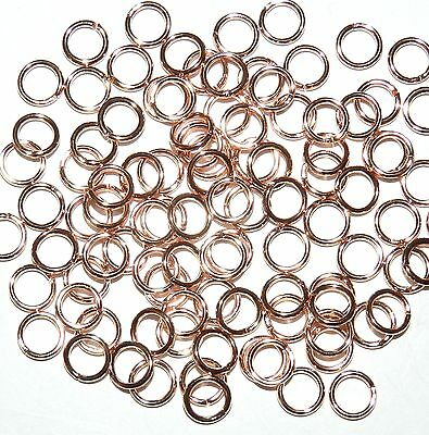 M451f Rose Gold Finished Brass 20-Gauge 5mm Round Jumpring Components 100/pkg