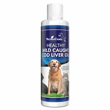 Omega 3 Vitamin A & D Cod Liver Fish Oil for Dogs and Cats New Design 8 Ounces