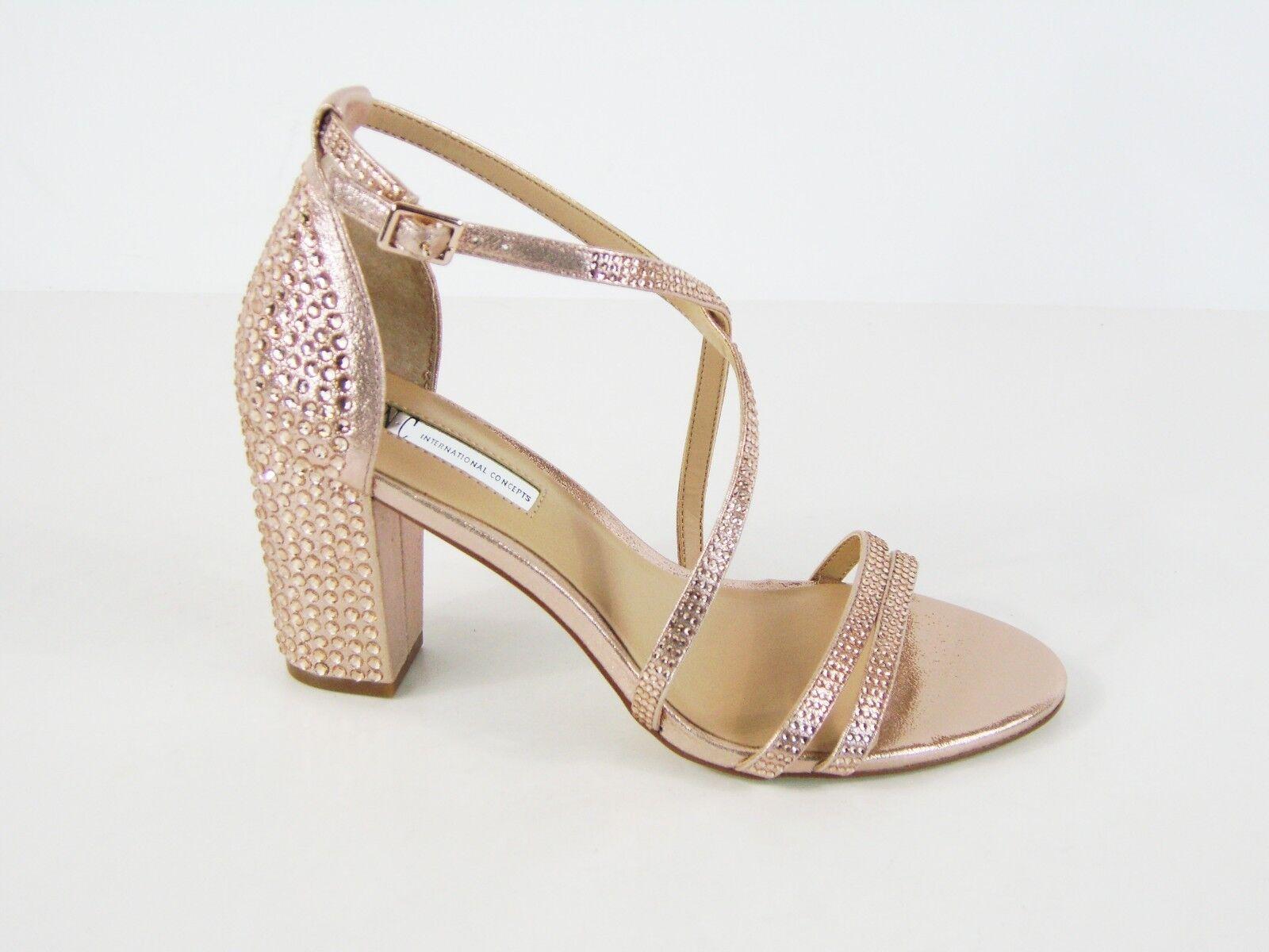 INC International Concepts Kamma Strappy Dress Sandale - Rose Pearl - Sz 7 M