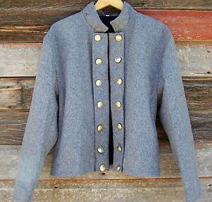 Details about civil war confederate reenactor officers double breasted  shell jacket 48
