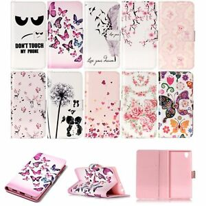 Leather-Wallet-Phone-Case-Magnetic-Folio-Flip-Cover-for-Huawei-P8-P9-Lite-amp-Sony