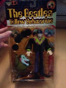 "The Beatles Yellow Submarine John Paul George Ringo 8"" Action figure Set 1999"