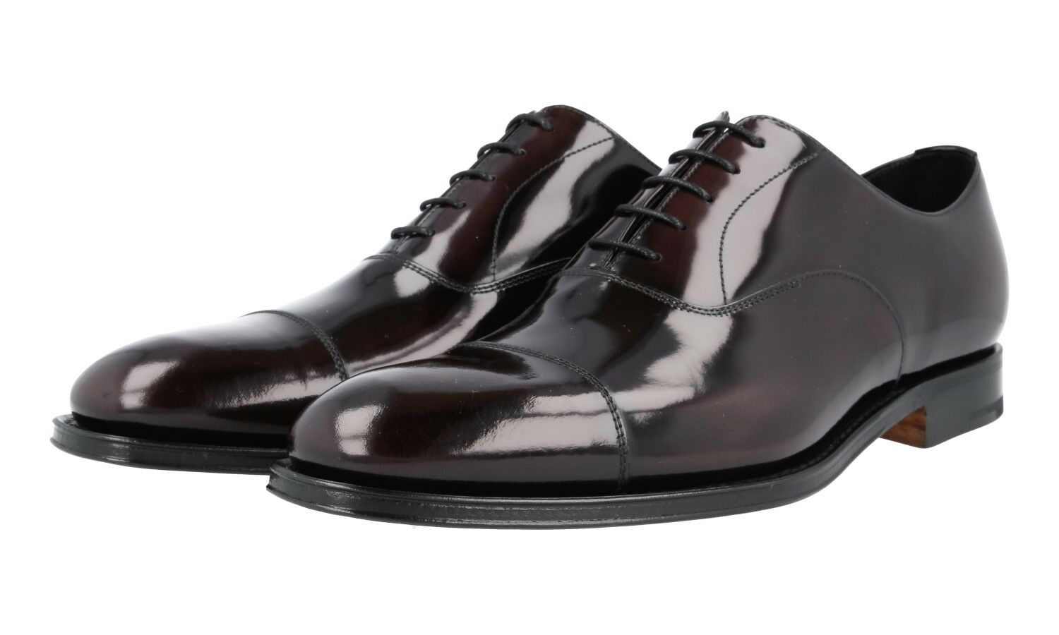 AUTH LUXURY PRADA CAP TOE TOE TOE OXFORD SHOES 2EB129 CORDOVAN NEW US 8.5 EU 41,5 42 24ff8c