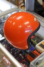 RARE ORANGE BELL SUPER MAGNUM 6 7/8 MOTORCYCLE VINTAGE MOTO STAR III 3 HELMET