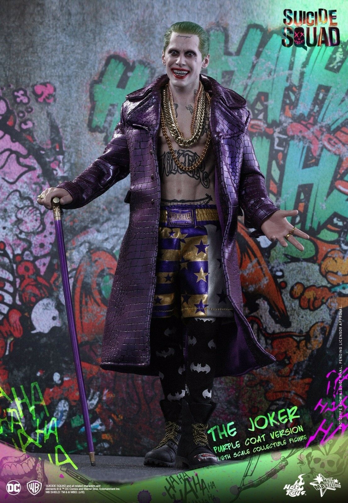heta leksaker MMS382 Suicide Squad Joker (lila Coat Version) 1  6 FIGURE