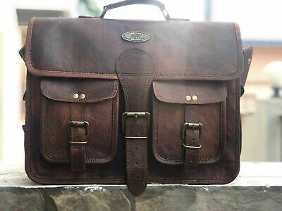 Men/'s Leather Bag Business Messenger Laptop Shoulder Briefcase Handbag Brown