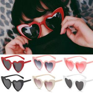 12e1adbb39 Image is loading NEW-Women-Fashion-Lolita-Heart-Shaped-Sunglasses-Shades-