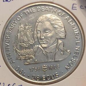 1995 Gibraltar 2.8 Ecus Anniversay De La Mort De Nelson En Unc-afficher Le Titre D'origine R2ffowy3-07225951-664693339