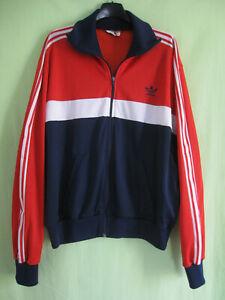 Détails sur Veste Adidas Ventex Tricolore Trefoil 70'S marine bordeaux Vintage Jacket 186