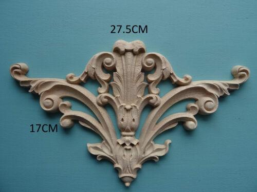 Decorative greffe apposée en bois centre plume appliqué meubles Moulage incrustation de surface C638