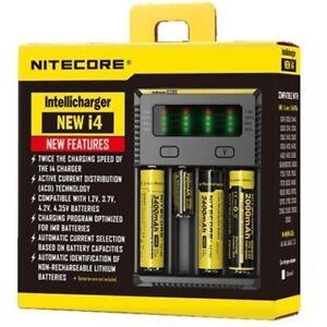 Nitecore-i4-NEW-Intellicharge-18650-26650-20700-16340-UK-Plug-Charger-Free-P-amp-P