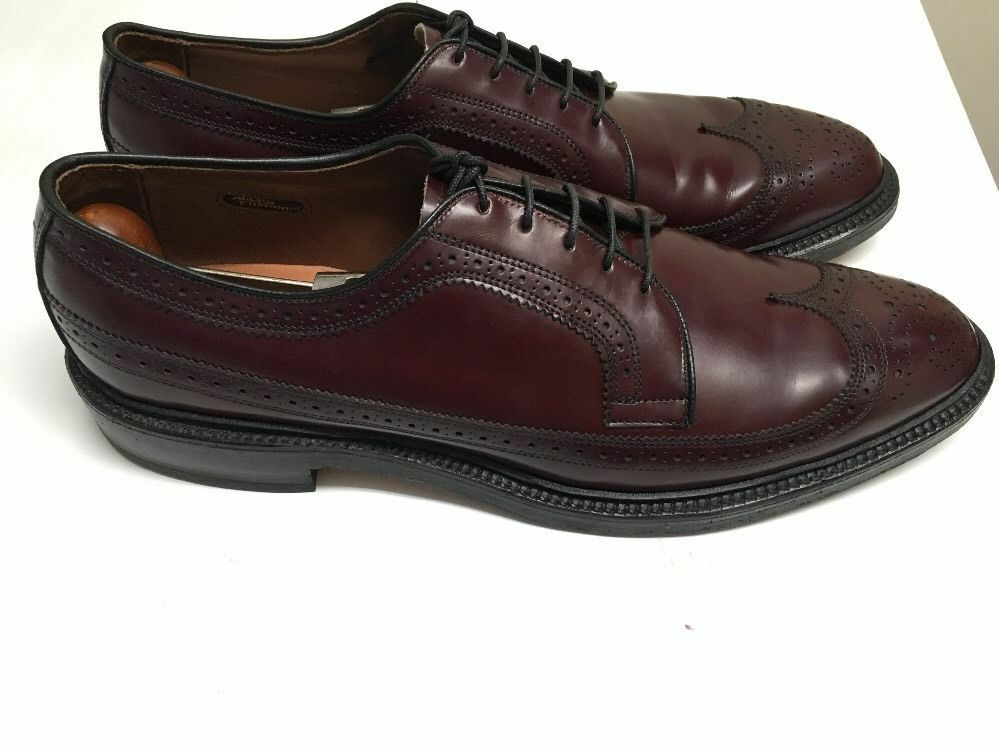 ALLEN EDMONDS MacNeil 11 AAA 3A Burgundy Wingtips Slightly-worn 45,0EU 9147  425