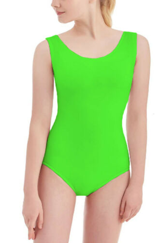 RSVH WSL Womens Ladies Sleeveless Stretchy Nylon Ballet Dance Bodysuit Leotard