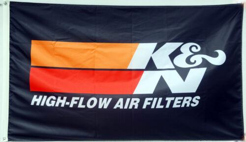 K/&N High Flow Air Filters Flag Banner 3x5 Feet US Shipper