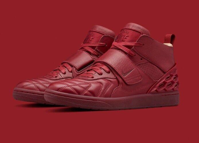 Nouveau Homme Garçons Nike Tiempo Vetta rouge Tan Chaussures Baskets Hi top par Rodger Federer-
