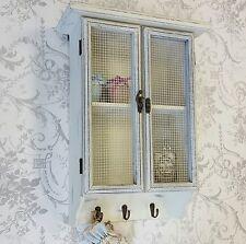 Shabby chic muro appendere Scaffale Display Unità mesh stile vintage bianco sporco