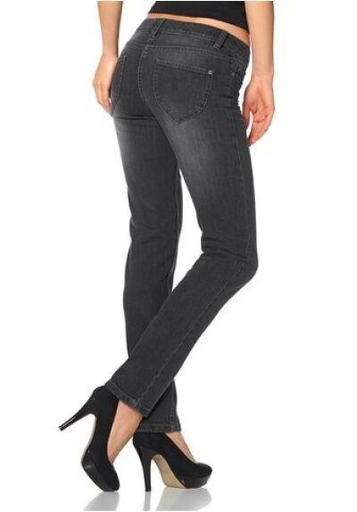 Arizona Jeans Tube Gr.36, 38,40, 42,44 Women Pants Stretch Grey Used Denim L32