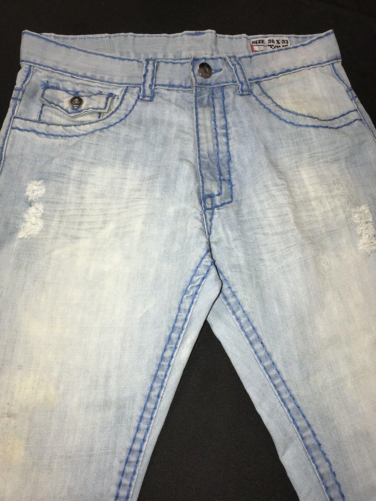 Dodeca Premium Denim Distressed Jeans Mens Sz.30x33-Cl. Strt