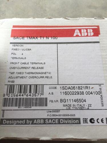 1SDA061821R1 ABB SACE TMAC T1N100-100A MCCB