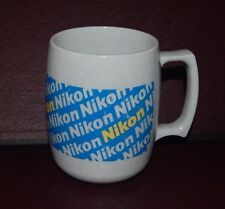 Nikon camera COFFEE MUG grey plastic Vision USA