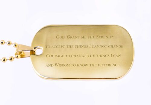 Engraved Gift Personalised Serenity Prayer ID Dog Tag