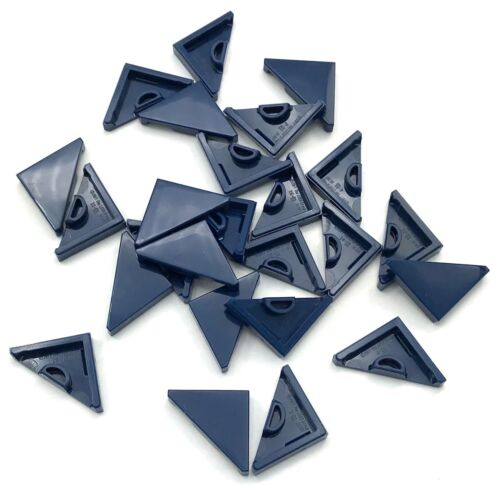 LEGO LOT OF 25 NEW DARK BLUE TILE MODIFIED 2 X 2 TRIANGULAR PIECES